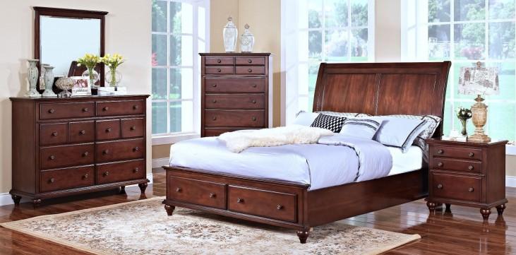 Spring Creek Tobacco Youth Sleigh Storage Bedroom Set
