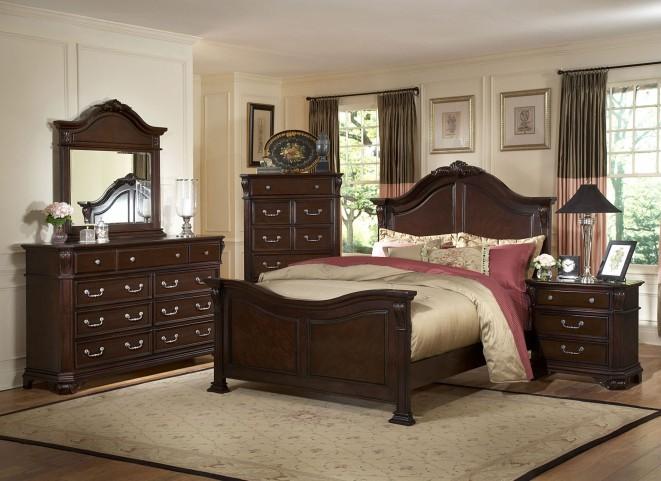 Emilie Tudor Brown Panel Bedroom Set