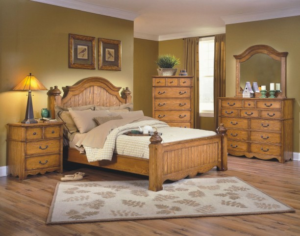 Hailey Toffee Poster Bedroom Set