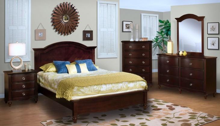 Victoria Espresso Panel Bedroom Set