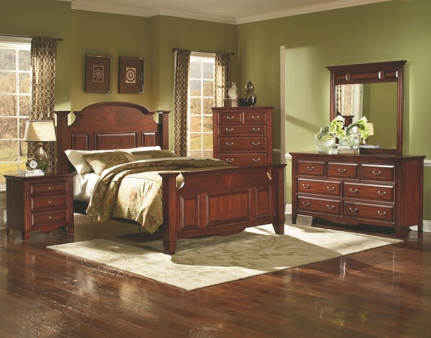 Drayton Hall Bordeaux Panel Bedroom Set