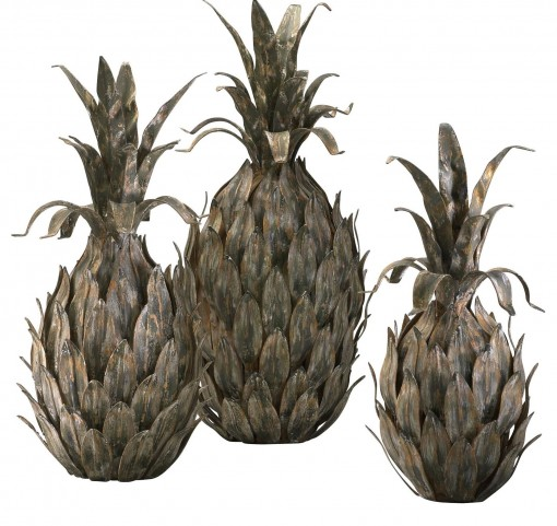 Decorative Pineapples Set of 3