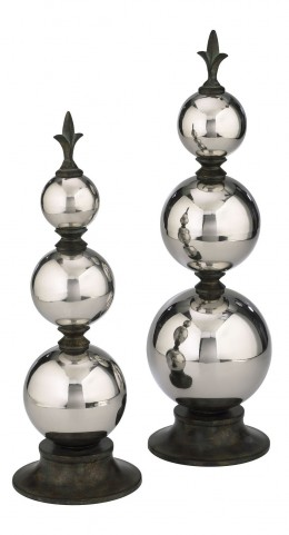 Silver Finial Large Sphere