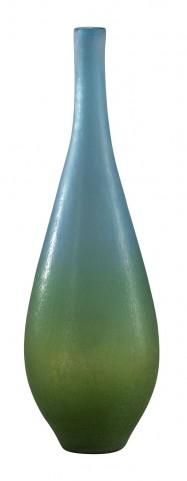 Vizio Blue With Green Large Vase