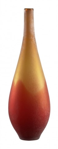 Vizio Yellow With Orange Large Vase