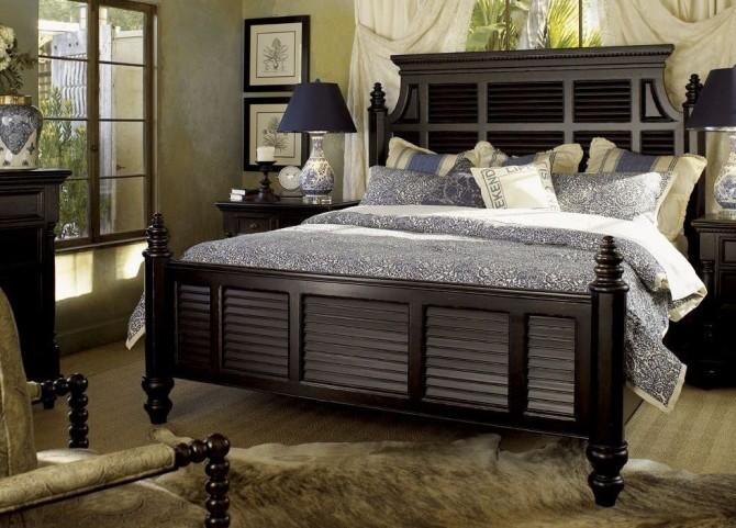 Kingstown Rich Tamarind Malabar Panel Bedroom Set