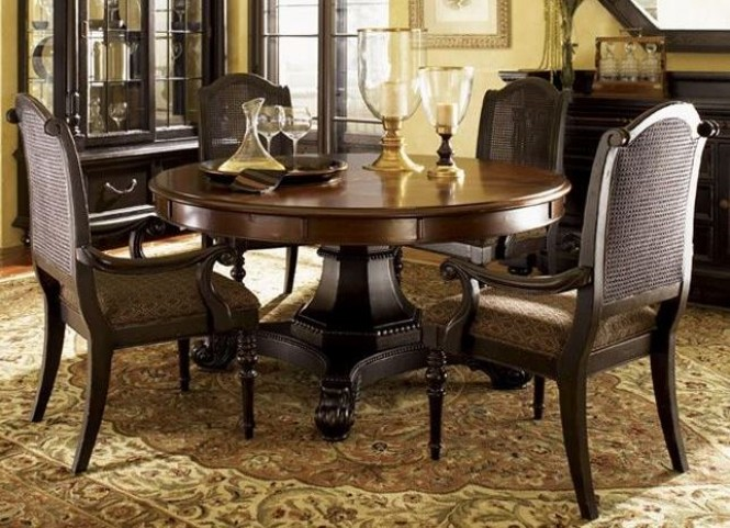 Kingstown Burnished Brown Cassis Bonaire Round Dining Room Set