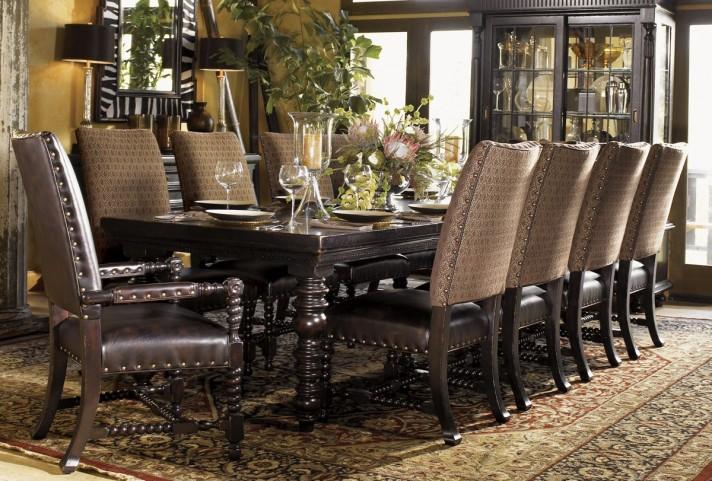 Kingstown Rich Tamarind Pembroke Extendable Rectangular Dining Room Set