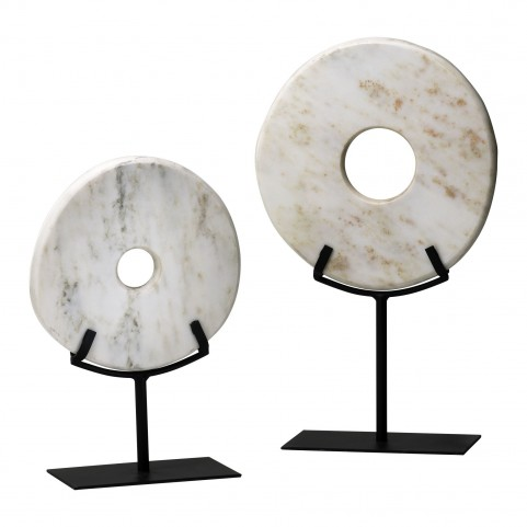 White Disk On Stand Large