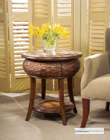 Designers Edge Round End Table