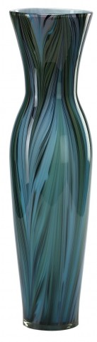 Tall Peacock Feather Vase