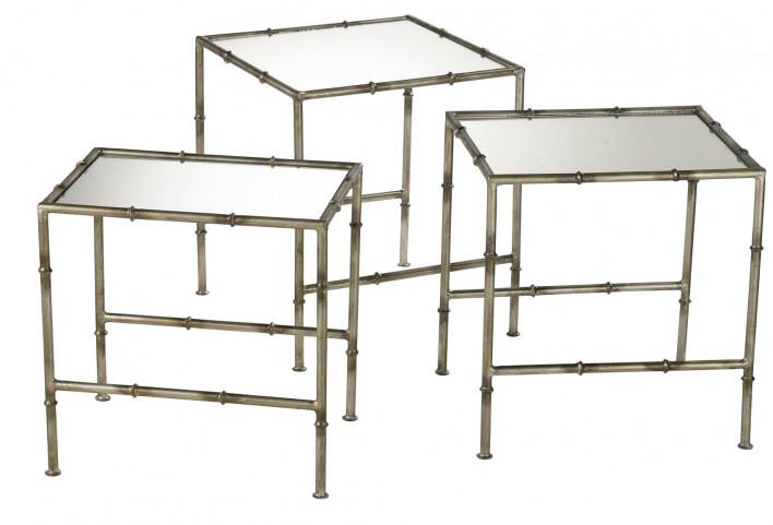 Bamboo Golden Nesting Tables