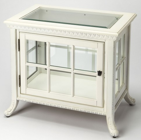 Masterpiece Chopin Cottage White Side Chair Curio
