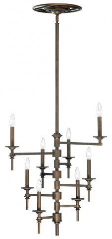 Omega 8 Light Oiled Bronze Chandelier