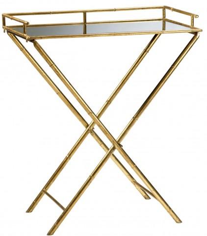 Bamboo Mirrored Tray Table