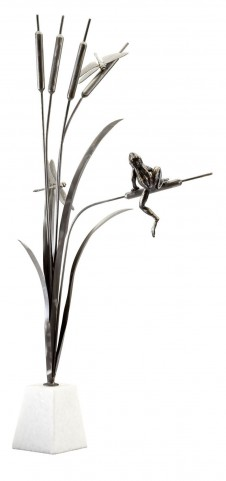 Frog And Dragon Fly Sculpture