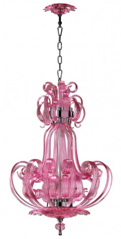 Florence Pink Chandelier