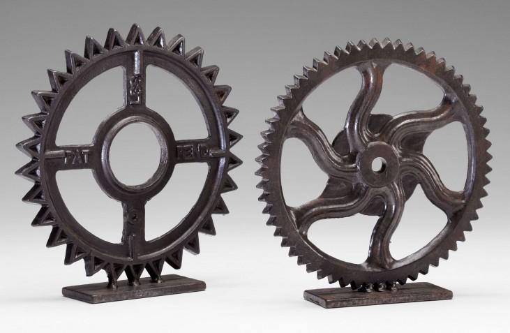 """Decorative Aged 6""""H Gear Sculpture"""