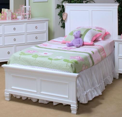 Tamarack White Full Platform Bed