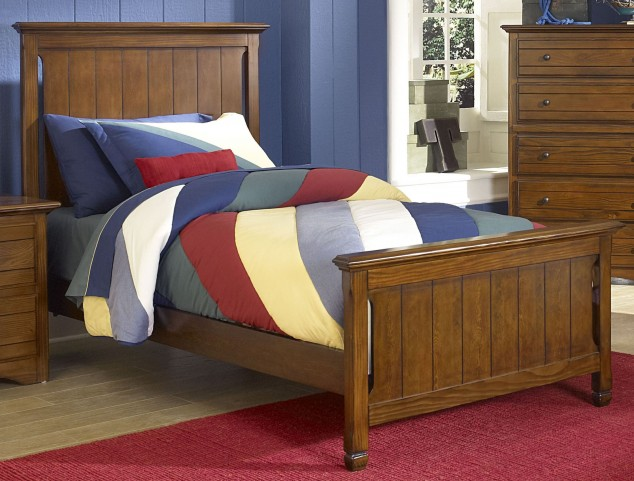Sawmill Youth Cocoa Twin Panel Bed