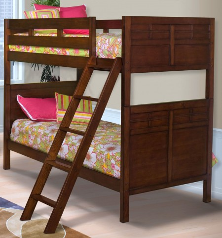 Kensington Burnished Cherry Twin Over Twin Bunk Bed