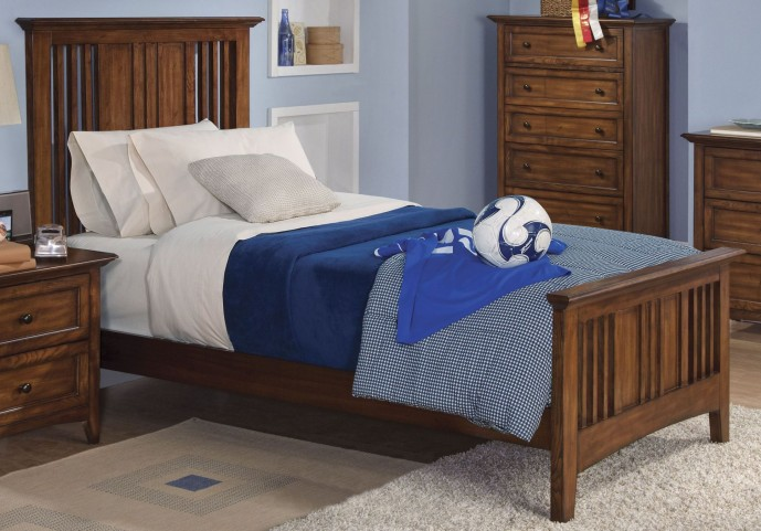 Logan Spice Twin Panel Bed
