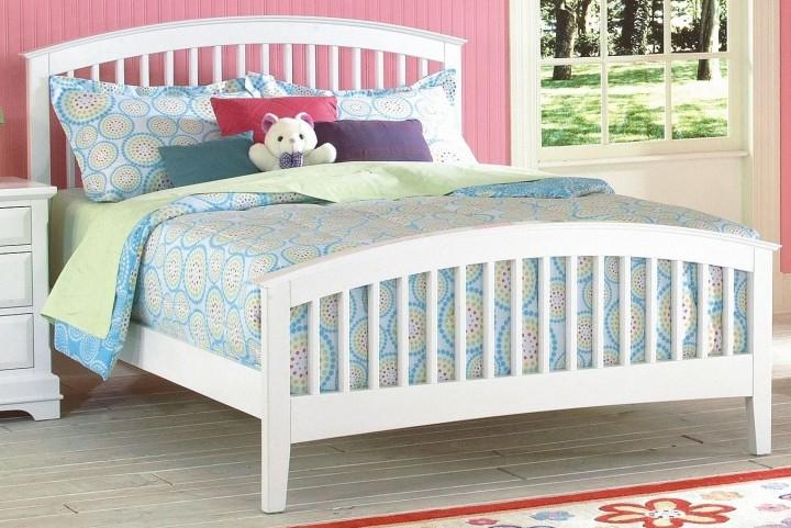 Bayfront White Twin Slat Bed