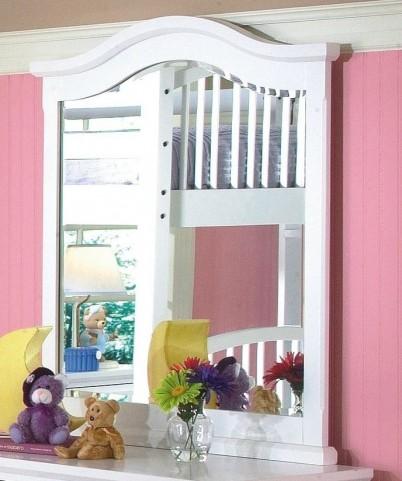 Bayfront White Vertical Mirror
