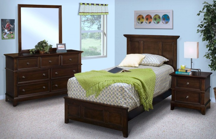 Prescott Sable Youth Panel Bedroom Set