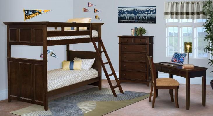 Prescott Sable Youth Bunk Bedroom Set