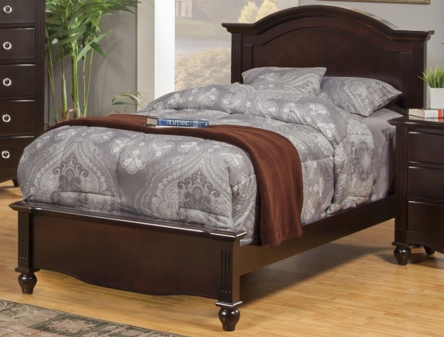 Victoria Espresso Full Panel Bed