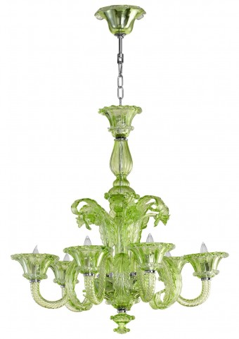 Lascala 6 Light Green Chandelier
