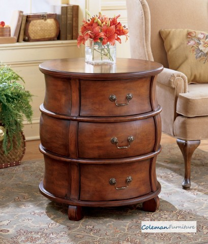 Plantation Cherry Barrel Table