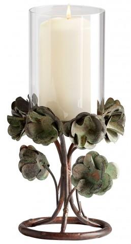 Leigh Green Rose Small Candleholder