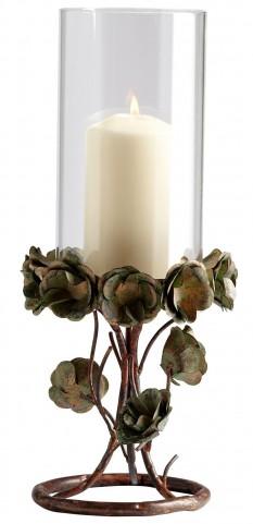 Leigh Green Rose Large Candleholder