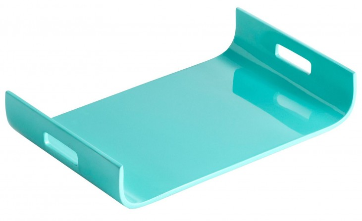 Monroe Turquoise Lacquer Tray