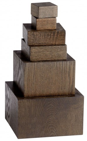 Brown Veneer Art Pedestals