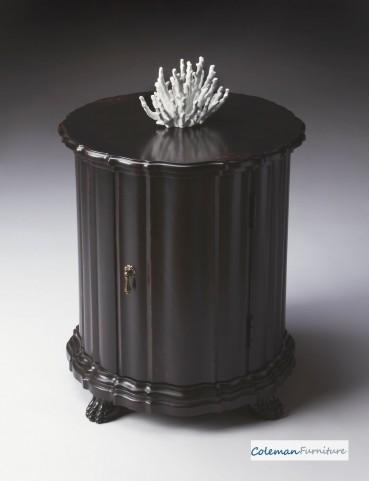 Plum Black Drum Table