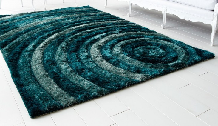 Girare Arte Bulls Eye Teal Large Rug