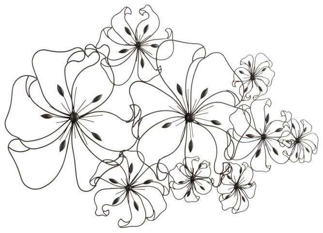 Six Flower Fancy Wall Art