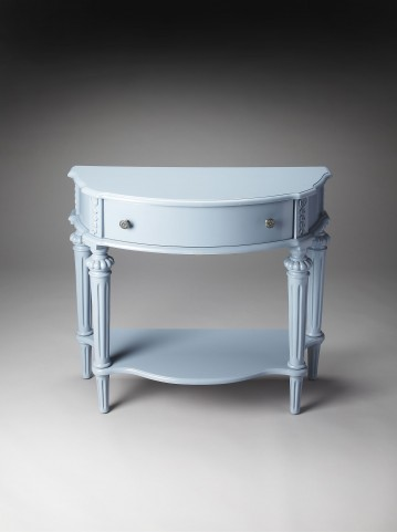 Masterpiece Halifax Glossy Wedgewood Console Table