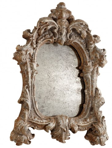 Avalon Rustic Silver Mirror
