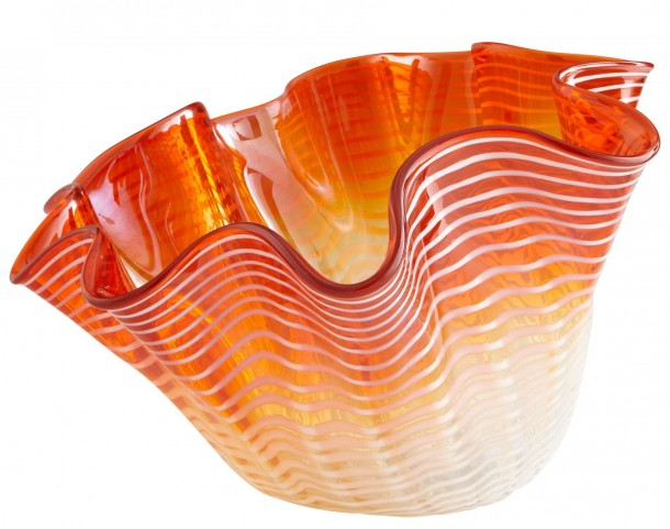 Teacup Party Orange Large Bowl