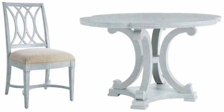 Coastal Living Resort Sea Salt Seascape Round Dining Room Set