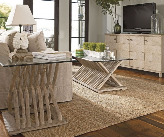 Coastal Living Resort Weathered Pier Driftwood Flats Occasional Table Set