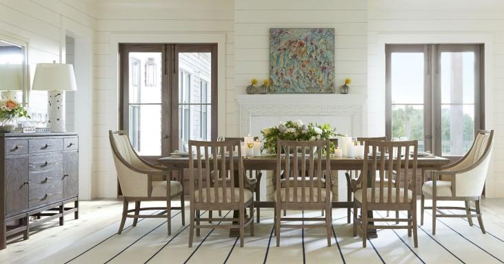 Coastal Living Resort Deck Shelter Bay Extendable Rectangular Dining Room Set