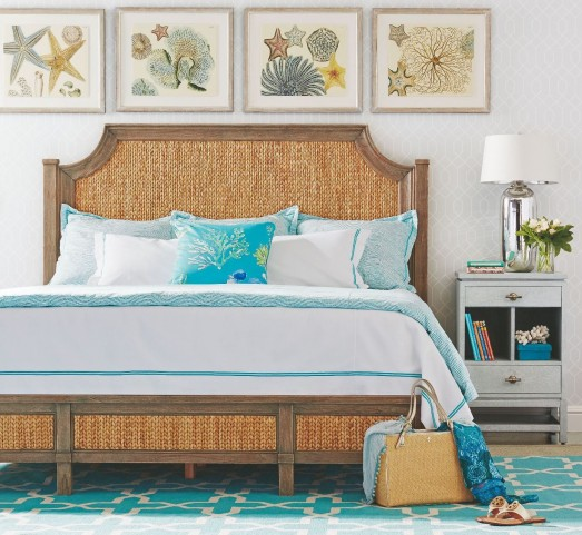 Coastal Living Resort Deck Water Meadow Bedroom Set With Tranquility Isle Nightstand