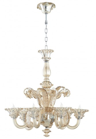 Lascala 6 Light Cognac Chandelier