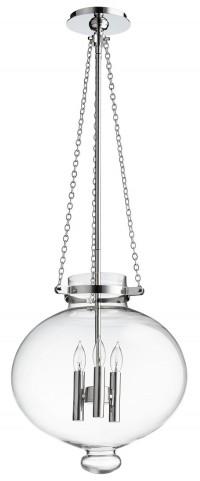 Cydney Transparent Glass 3 Light Pendant