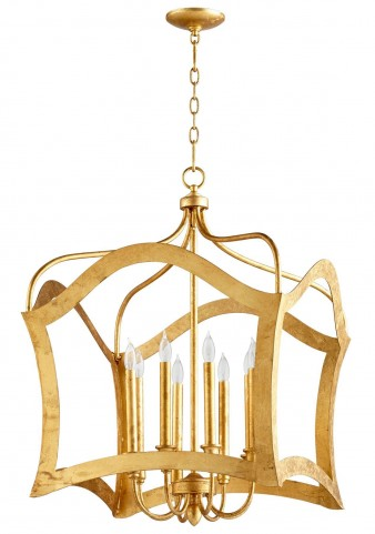 Milan Gold Leaf 8 Light Pendant